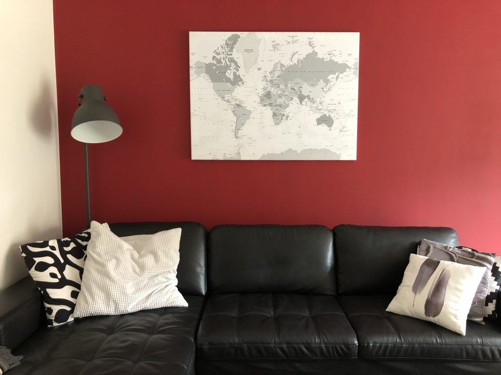 Trend aan de muur: wereldkaart